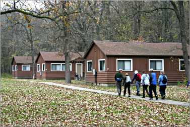 Group cabins at Whitewater State Park.