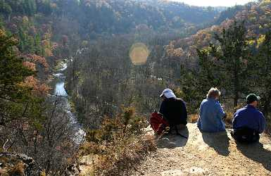 A view in Whitewater State Park.