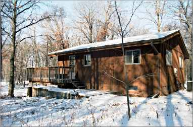 The guesthouse at Wild River State Park.