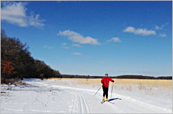 Skiing at Wild River State Park.