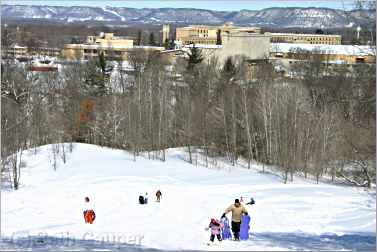 The sledding hill at St. Mary's University.