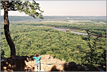 The view from Wyalusing State Park.